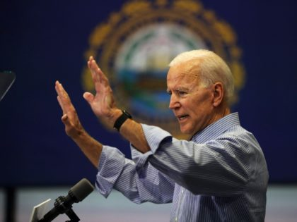 MANCHESTER, NEW HAMPSHIRE - MAY 13: Former Vice President and Democratic Presidential candidate Joe Biden speaks to voters in New Hampshire on May 13, 2019 in Manchester, New Hampshire. The former Vice President is scheduled to make three public stops in New Hampshire, his first visit to the state as …