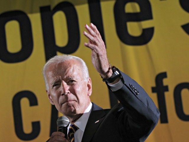 "WASHINGTON, DC - JUNE 17: Democratic U.S. presidential hopeful and former Vice President Joe Biden addresses the Moral Action Congress of the Poor People's Campaign June 17, 2019 at Trinity Washington University in Washington, DC. The Campaign held the event to focus on issues like ""voting rights, health care, housing, …"
