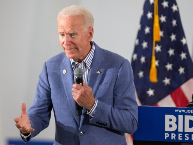 Former Vice President and Democratic presidential candidate Joe Biden holds a campaign event at the IBEW Local 490 on June 4, 2019 in Concord, New Hampshire. (Photo by Scott Eisen/Getty Images)