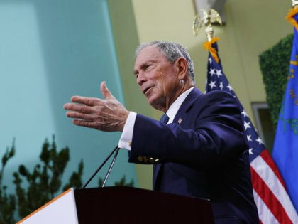 CORRECTS HIS TITLE - Former New York City Mayor Michael Bloomberg speaks at a news conference at a gun control advocacy event, Tuesday, Feb. 26, 2019, in Las Vegas. Bloomberg on Tuesday applauded the recent passage of gun background check law in Nevada, but said he has yet to decide …