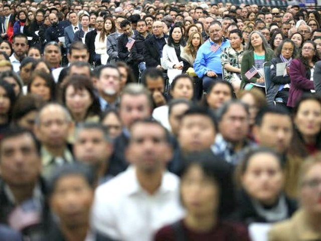 naturalization ceremony in L.A.