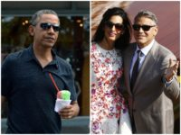 Jet Setting Obamas Seen Hobnobbing with Clooneys on Ritzy Lake Como