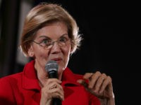 "WASHINGTON, DC - JUNE 17: Democratic U.S. presidential candidate Sen. Elizabeth Warren (D-MA) addresses the Moral Action Congress of the Poor People's Campaign June 17, 2019 at Trinity Washington University in Washington, DC. The Campaign held the event to focus on issues like ""voting rights, health care, housing, equitable education, …"