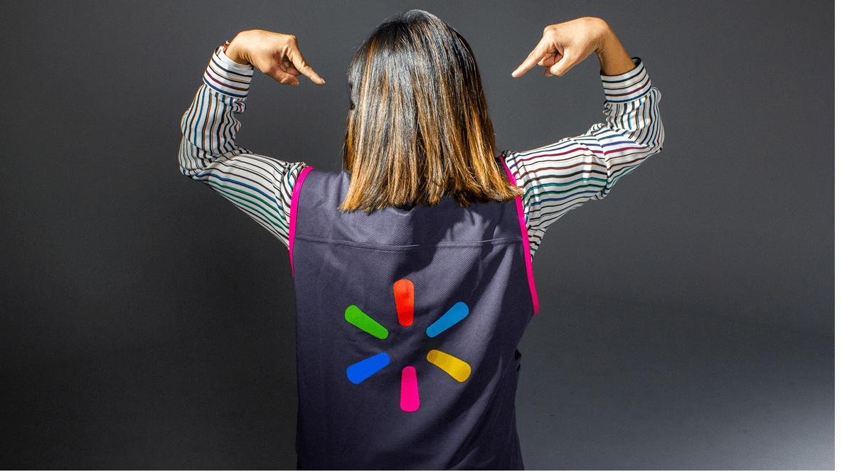 Walmart Replaces Iconic Blue Vest Uniform with Rainbow of