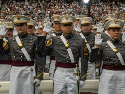 Cadets at the May 25 graduation ceremonies at the US Military Academy at West Point, New York
