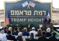 Netanyahu Inaugurates 'Trump Heights' Honoring President's Recognition of Golan