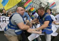 War veterans join biggest gay pride march in Ukraine