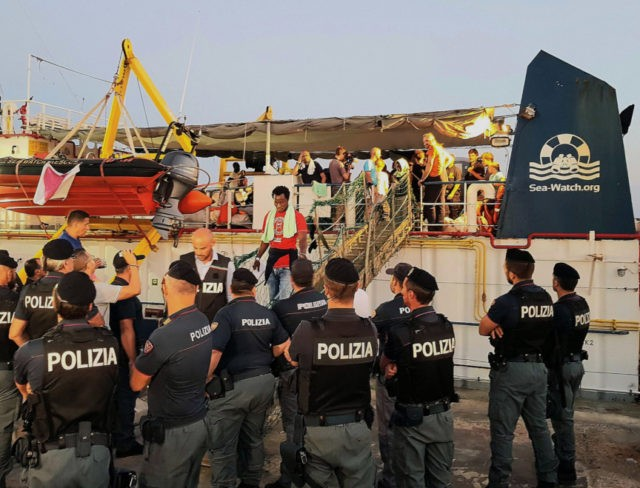 Migrant aid ship rams Italian police boat; captain arrested