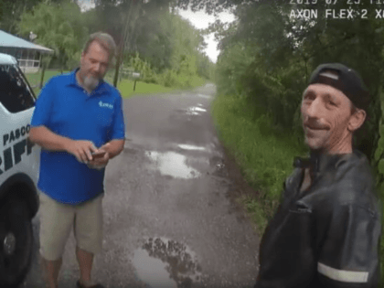 Lonnie Maddox, 52, of Spring Hill, Florida, was arrested Thursday after he was caught on video allegedly trying to burglarize Steve Ferguson's home in Pasco County, Florida.