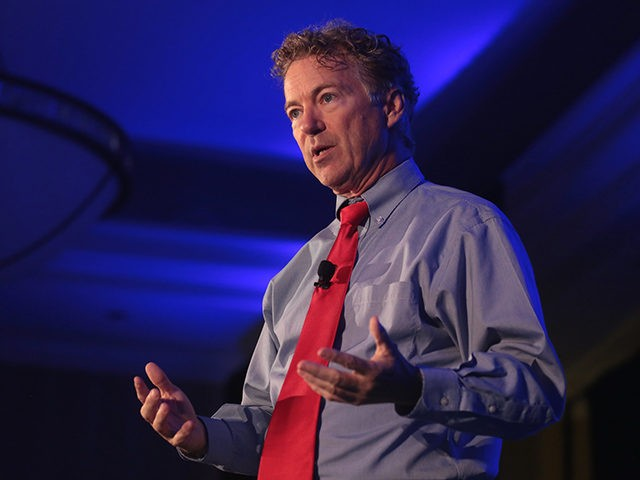 U.S. Senator Rand Paul speaking with attendees at the 2018 Young Americans for Liberty National Convention at the Sheraton Reston Hotel in Reston, Virginia.