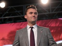Charlie Kirk speaking with attendees at the 2018 Student Action Summit hosted by Turning Point USA at the Palm Beach County Convention Center in West Palm Beach, Florida.