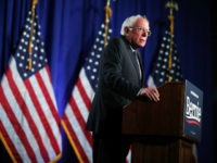 WASHINGTON, DC - JULY 17: Democratic presidential hopeful and U.S. Sen. Bernie Sanders (I-VT) speaks on healthcare at George Washington University July 17, 2019 in Washington, DC. Sanders renewed his campaign promise from 2016 to provide a single payer system of healthcare for all Americans. (Photo by Alex Wong/Getty Images)