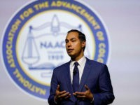 DETROIT, MI - JULY 24: Democratic presidential candidate, former U.S. Secretary of Housing and Urban Development, Julian Castro participates in a Presidential Candidates Forum at the NAACP 110th National Convention on July 24, 2019 in Detroit, Michigan. The theme of this year's Convention is, When We Fight, We Win. (Photo …