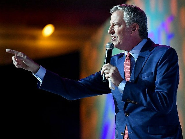 NEW ORLEANS, LOUISIANA - JULY 06: Mayor of New York City Bill de Blasio speaks on stage at 2019 ESSENCE Festival Presented By Coca-Cola at Ernest N. Morial Convention Center on July 06, 2019 in New Orleans, Louisiana. (Photo by Paras Griffin/Getty Images for ESSENCE)