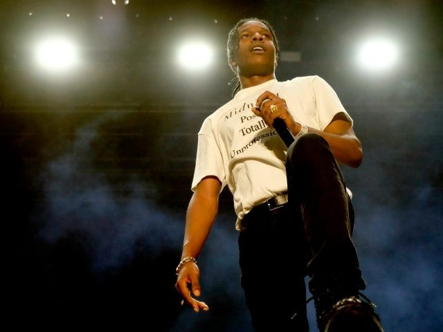 INDIO, CA - APRIL 22: Recording artist ASAP Rocky performs onstage during day 1 of the 2016 Coachella Valley Music & Arts Festival Weekend 2 at the Empire Polo Club on April 22, 2016 in Indio, California. (Photo by Frazer Harrison/Getty Images for Coachella)