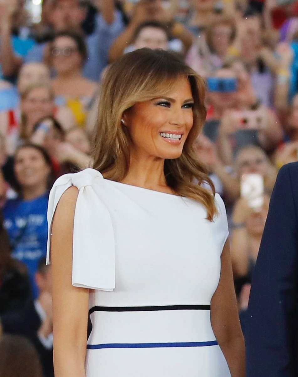 Melania Trump statue unveiled close to her hometown in Slovenia