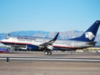 AeroMexico plane taking off