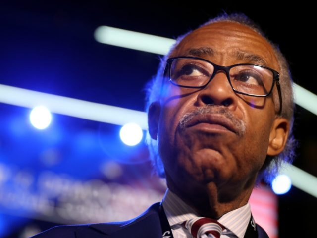 PHILADELPHIA, PA - JULY 25: Reverend Al Sharpton stands on stage prior to the start of the first day of the Democratic National Convention at the Wells Fargo Center, July 25, 2016 in Philadelphia, Pennsylvania. An estimated 50,000 people are expected in Philadelphia, including hundreds of protesters and members of …