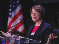 MIAMI, FL - JUNE 21: Democratic presidential candidate U.S. Sen. Amy Klobuchar (D-MN) speaks at the Democratic presidential candidates NALEO Candidate Forum on June 21, 2019 in Miami, Florida. (Photo by Joe Skipper/Getty Images)