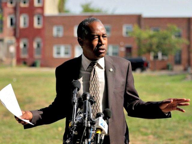 Ben Carson Tours Baltimore