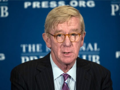 Libertarian Party vice presidential candidate William Weld speaks at a National Press Club Luncheon on July 7, 2016, in Washington, DC. / AFP / MOLLY RILEY (Photo credit should read MOLLY RILEY/AFP/Getty Images)