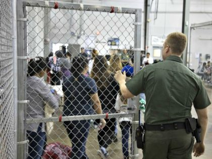 A processing center at the McAllen, Texas, Border Patrol facility. US Customs and Border Protection via Getty Images