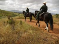 Border Patrol agents on horseback