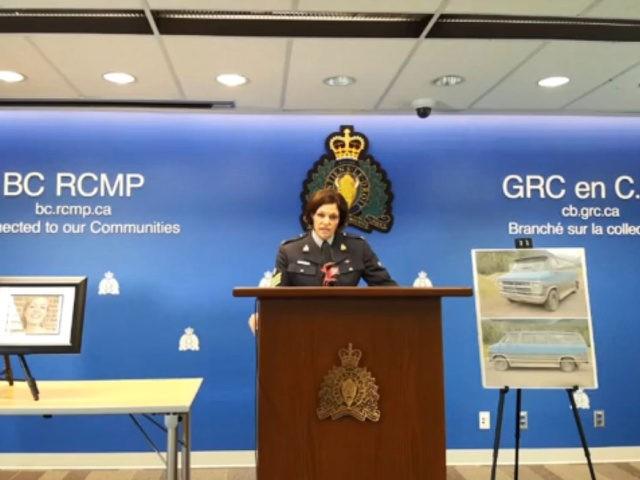 British Columbia RCMP press conference