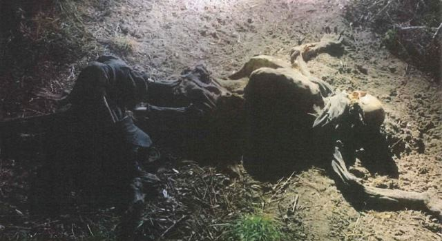 Decomposing remains of a migrant found in Brooks County, Texas, on June 29. (Photo: Brooks County Sheriff's Office)