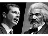 Democratic presidential candidate Pete Buttigieg and civil rights leader Frederick Douglass. (Photos: Don Emmert/AFP/Getty Images, National Archives and Records Administration) More