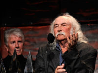 NEW YORK - JUNE 18: Singer/songwriter David Crosby on stage during the 40th Annual Songwriters Hall of Fame Ceremony at The New York Marriott Marquis on June 18, 2009 in New York City. (Photo by Larry Busacca/Getty Images for Songwriters Hall of Fame)