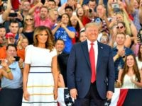 Donald and Melania Trump Salute to America