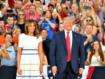 Donald and Melania Trump Salute to America