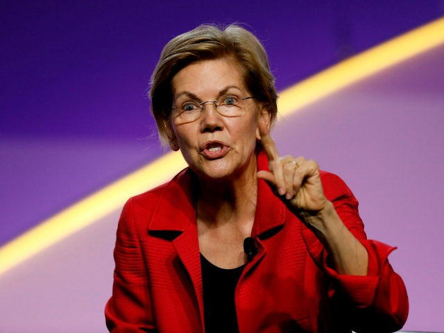 Democratic 2020 presidential hopeful Elizabeth Warren addresses the Presidential Forum at the NAACP's 110th National Convention at Cobo Center on July 24, 2019, in Detroit, Michigan. (Photo by JEFF KOWALSKY / AFP) (Photo credit should read JEFF KOWALSKY/AFP/Getty Images)