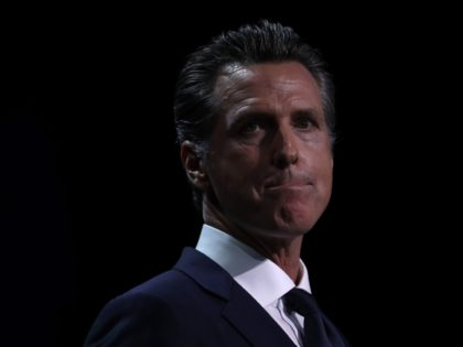 SAN FRANCISCO, CALIFORNIA - JUNE 01: California Gov. Gavin Newsom speaks during the California Democrats 2019 State Convention at the Moscone Center on June 01, 2019 in San Francisco, California. Several Democratic presidential hopefuls are speaking at the California Democratic Convention that runs through Sunday. (Photo by Justin Sullivan/Getty Images)