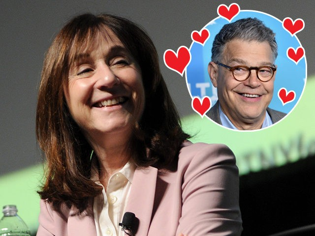 "(INSET: Al Franken) NEW YORK, NY - OCTOBER 06: Jane Mayer speaks on stage at the 2018 New Yorker Festival - ""The Investigators"" Featuring Jane Mayer, Ronan Farrow, Michael S. Schmidt, And Ginger Thompson Moderated By The New Yorker's Michael Luo on October 6, 2018 in New York City. (Photo …"