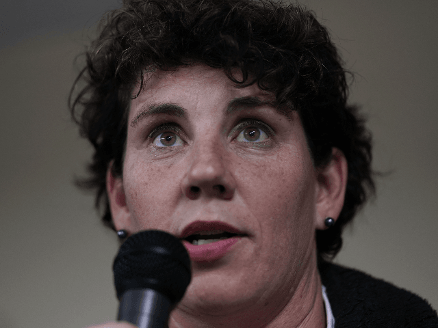 MT STERLING, KENTUCKY - NOVEMBER 01: Democratic U.S. House of Representatives candidate for Kentucky Amy McGrath speaks to supporters at a community potluck dinner November 1, 2018 in Mt. Sterling, Kentucky. McGrath is challenging incumbent in a tight race in Kentucky's 6th Congressional District. (Photo by Alex Wong/Getty Images)