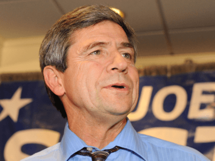 U.S. Rep. Joe Sestak (D-PA) concedes the Pennsylvania Senate race to Republican Pat Toomey November 3, 2010 at the Radnor Hotel in St. Davids, Pennsylvania. With 91 percent of the vote counted, Toomey led Sestak 51 percent to 49 percent. (Photo by William Thomas Cain/Getty Images)