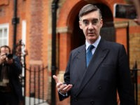 LONDON, ENGLAND - MARCH 28: Conservative MP Jacob Rees-Mogg speaks to reporters as he leaves his home on March 28, 2019 in London, England. None of the eight proposals put to the vote in the House of Commons as an alternative to Theresa May's Brexit Deal secured clear backing of …