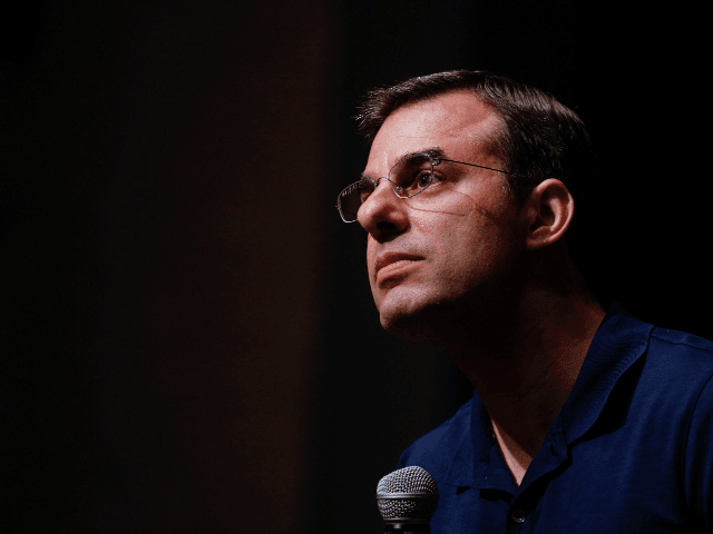 U.S. Rep. Justin Amash (R-MI) holds a Town Hall Meeting on May 28, 2019 in Grand Rapids, Michigan. Amash was the first Republican member of Congress to say that President Donald Trump engaged in impeachable conduct. (Photo by Bill Pugliano/Getty Images)