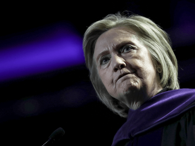 Former U.S. Secretary of State Hillary Clinton delivers the commencement address at the Hunter College Commencement ceremony at Madison Square Garden, May 29, 2019 in New York City. Secretary Clinton received the colleges inaugural Eleanor Roosevelt Distinguished Leadership Award, recognizing her achievements in public service.(Photo by Drew Angerer/Getty Images)
