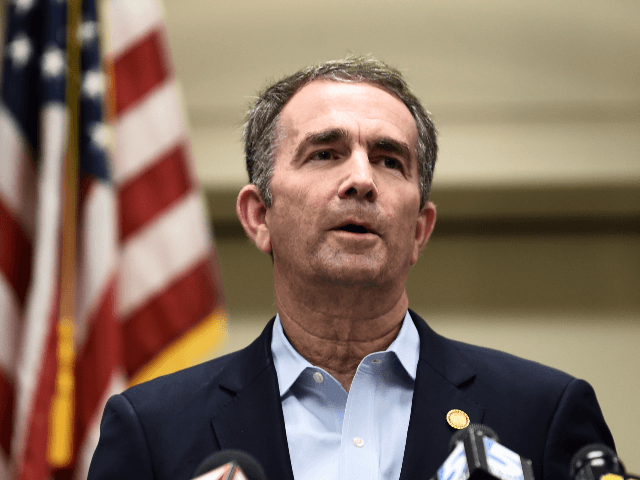 "Virginia Governor Ralph Northam speaks to the press about a mass shooting on June 1, 2019, in Virginia, Beach, Virginia. - A municipal employee sprayed gunfire ""indiscriminately"" in a government building complex on May 31, 2019, police said, killing 12 people and wounding four in the latest mass shooting to …"