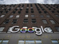 NEW YORK, NY - JUNE 3: The Google logo adorns the outside of their NYC office Google Building 8510 at 85 10th Ave on June 3, 2019 in New York City. Shares of Google parent company Alphabet were down over six percent on Monday, following news reports that the U.S. …