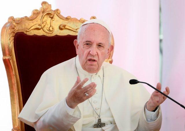 "Pope Francis speaks as he concludes a congress titled ""Theology after Veritatis Gaudium in the context of the Mediterranean"" focusing on the Apostolic Constitution on ecclesiastical universities and faculties, issued by the Holy Father last January, on June 21, 2019 at the Faculty of Theology of Southern Italy in Naples. …"