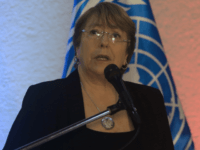 UN High Commissioner for Human Rights, Chilean Michelle Bachelet, speaks during a press conference in Caracas on June 21, 2019. - Bachelet arrived in Venezuela Wednesday as part of a visit to review the country's ongoing economic and political crisis. (Photo by Cristian Hernandez / AFP) (Photo credit should read …