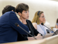 Pro-democracy Hong Kong singer Denise Ho attends the United Nations Human Rights Council in Geneva on July 8, 2019. - The United Nations should convene an urgent session to discuss the crisis in Hong Kong, says singer and protest activist Denise Ho. Ho is in Geneva to adress the United …