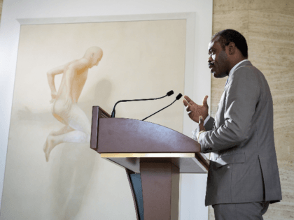 Congo's Health Minister Oly Ilunga gestures as he speaks during a press conference following a meeting hold by the United Nations on the Ebola disease in Democratic Republic of Congo, on July 15, 2019, in Geneva. - A confirmed Ebola case in the key Democratic Republic of Congo city of …