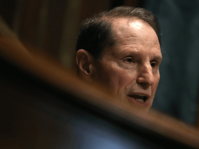 Sen. Ron Wyden (D-OR) (L) speaks during a Senate Finance Committee hearing on June 18, 2019 in Washington, DC. The committee heard testimony from U.S. Trade Representative Robert Lighthizer regarding President Trumps 2019 trade policy agenda. (Photo by Mark Wilson/Getty Images)
