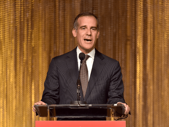 Honoree Eric Garcetti speaks onstage at The Salvation Army 2019 Sally Awards at the Beverly Wilshire Four Seasons Hotel on June 19, 2019 in Beverly Hills, California. (Photo by Gregg DeGuire/Getty Images for the Salvation Army)