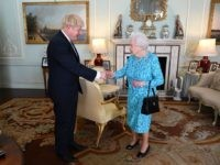 Britain's Queen Elizabeth II welcomes newly elected leader of the Conservative party, Boris Johnson during an audience in Buckingham Palace, London ON jULY 24, 2019, where she invited him to become Prime Minister and form a new government. - Theresa May is set to formally resign on July 24 after …